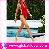 low moq womens one piece halter neck 2014 sexy summer swim suit
