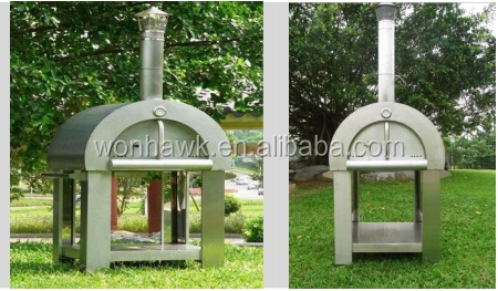 430 stainless steel wood fired pizza oven