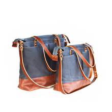 HD112AZ Women Canvas Leather Diaper Bag