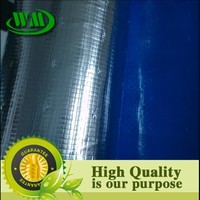 Reflective house wrap woven insulation