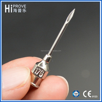 Stainless steel hypodermic veterinary injection needles for veterinary syringe use