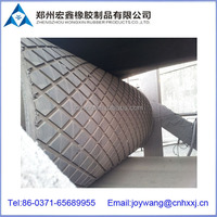 cold bond rubber cover for conveyor pulleys
