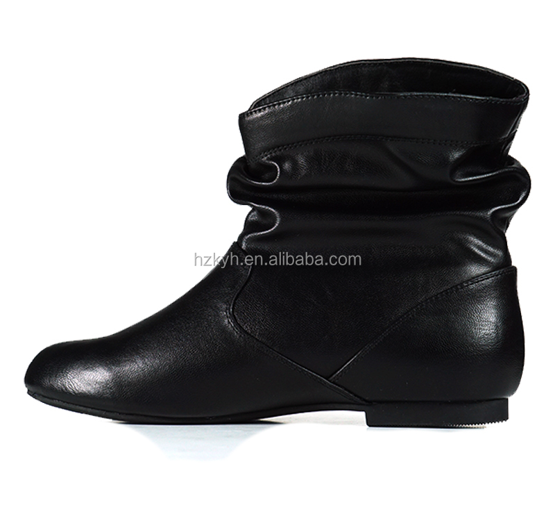 ladies flat women pu shoes boots