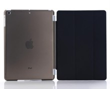 Smart magnetic stand Cover + Hard Clear Back Case for iPad Air sleep wake flip