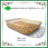 Hand woven decorative wicker plates