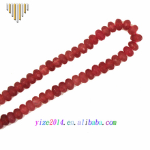 Guangzhou beads manufacturers high quality faceted red jade gemstone rondelle beads