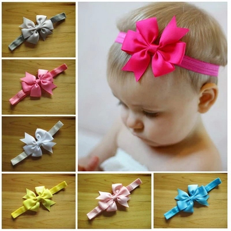 Ribbon Baby Head Band In Hairbands