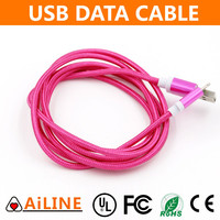AiLINE Quick Shipping Trade Assurance Pink Phone Micro USB Nylon Cable