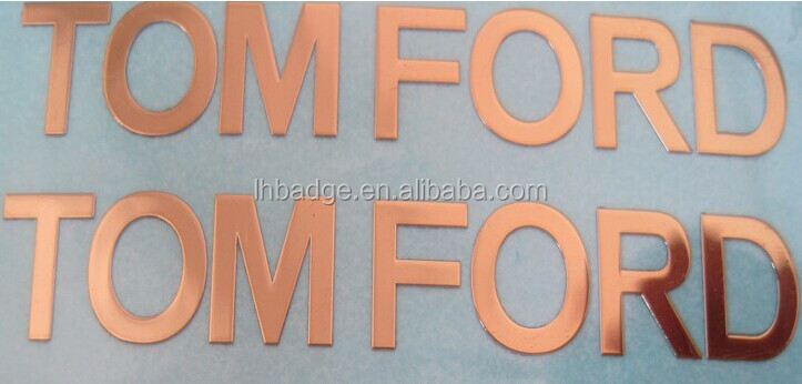 glossy finish electroform thin metal sticker; Metal Electroforming Foil Self Adhesive Label Sticker