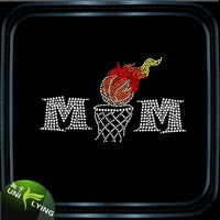 Basketball mom hotfix iron on transfers wholesale basketball