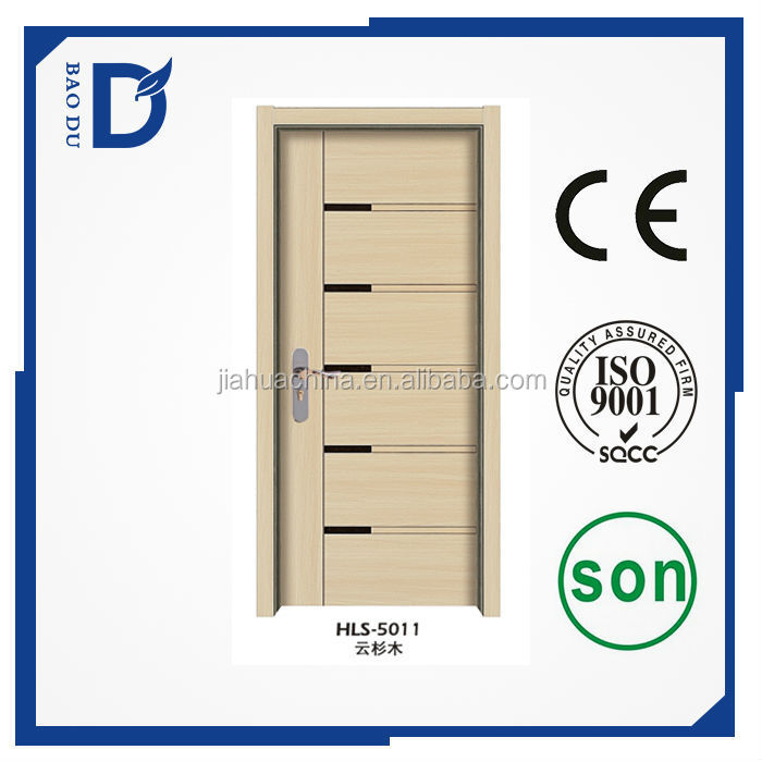 foreign market melamine wooden door many colors available