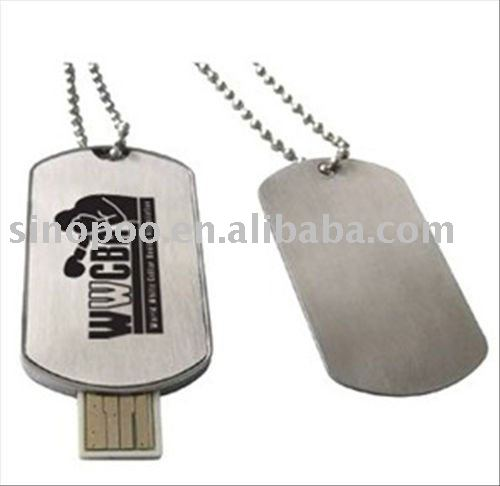 amry tag usb drive with glossy treatment
