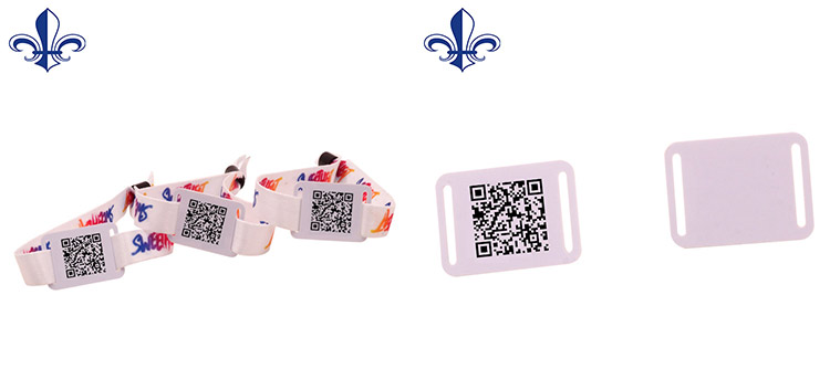 Customized Printing OEM 13.56 RFID Band 팔찌 QR Code Custom Hard 플라스틱 팔찌