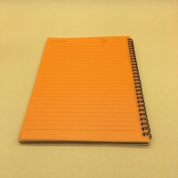 Organic custom PVC plastic material cover spiral notebook for stationary
