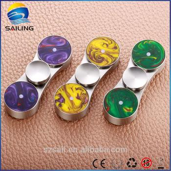 Sailing factory price finger innovation fidget hand spinner with LED lights