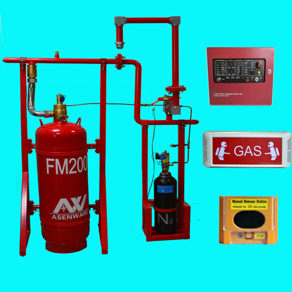 Asenware FM200 Clean Agent Gas Fire Extinguisher FM200 Fire Suppression System