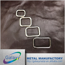 Wholesale Iron material round edge metal square ring for bag