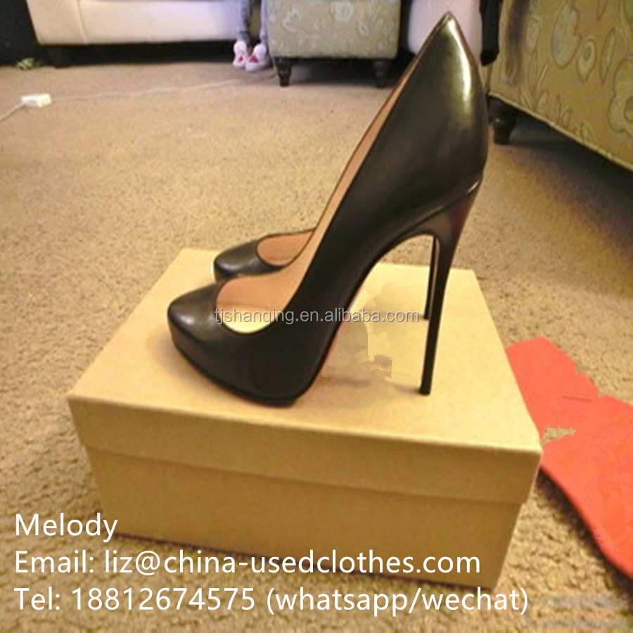 used shoes/ used lady fashion 8cm high heel shoes