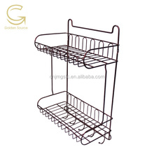 Double wire shower caddy