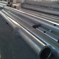 Round Galvanized Tubular Steel Pole