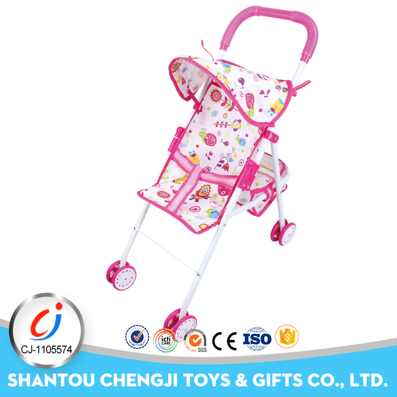 Girl best gift trolley toy iron material pretend doll stroller for doll