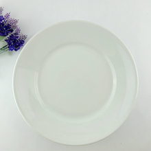 Round white porcelain 12 inch dinner plate for restaurant