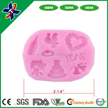 creative Flexible Eco-friendly Bakeware Kitchen Cooking Tools Silicone Cake Mold