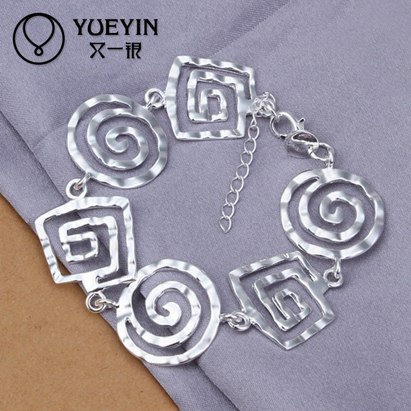 Wholesale fashion swirl shape silver bangles and bracelets