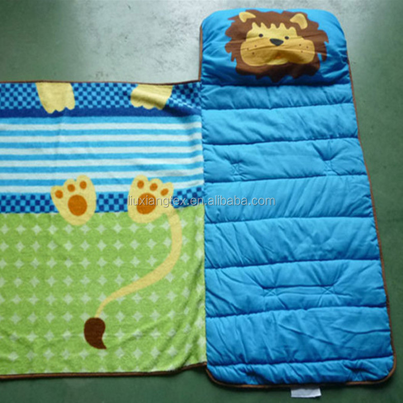 3 in 1 Portable and fordable Toddler Kid Nap Mat with Pillow and Blanket