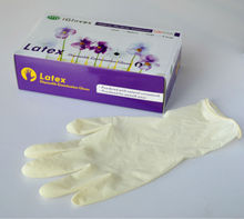 sexy white latex gloves AQL2.5 food grade