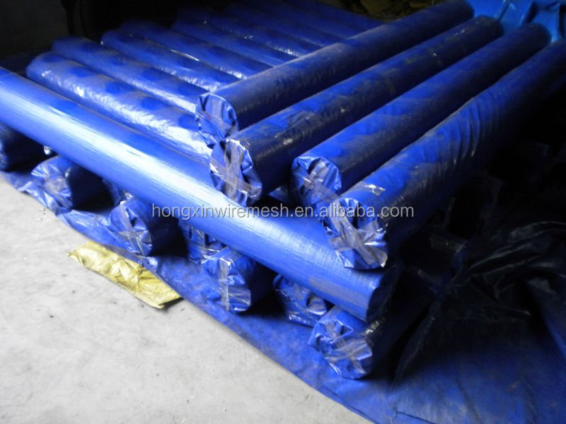 China blue /sliver PE or PVC tarpaulin/ tarpaulin net