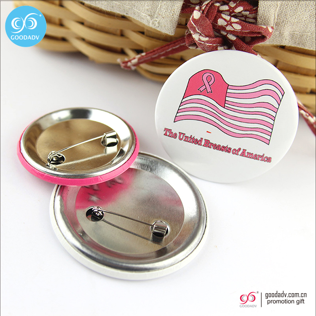 Promotional gifts metal tin badge customized pin button badge