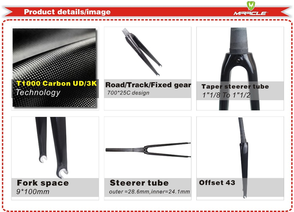 700C carbon road bicycle frame fork 350G light weigh bike fork carbon road bike fork