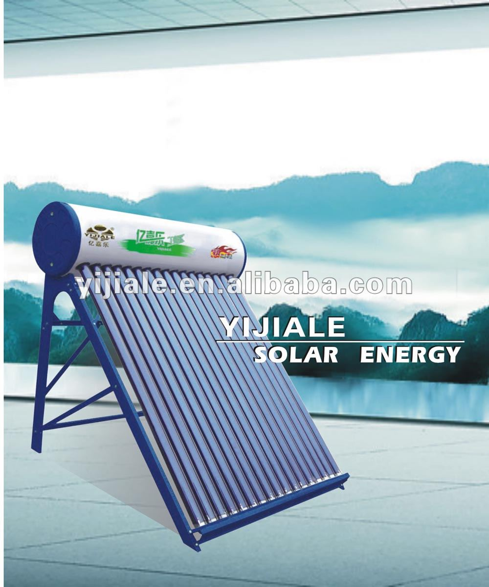 Pessurized solar water heater system near Shentai
