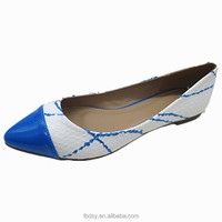 women cheap light dress shoe blue office lady shoe