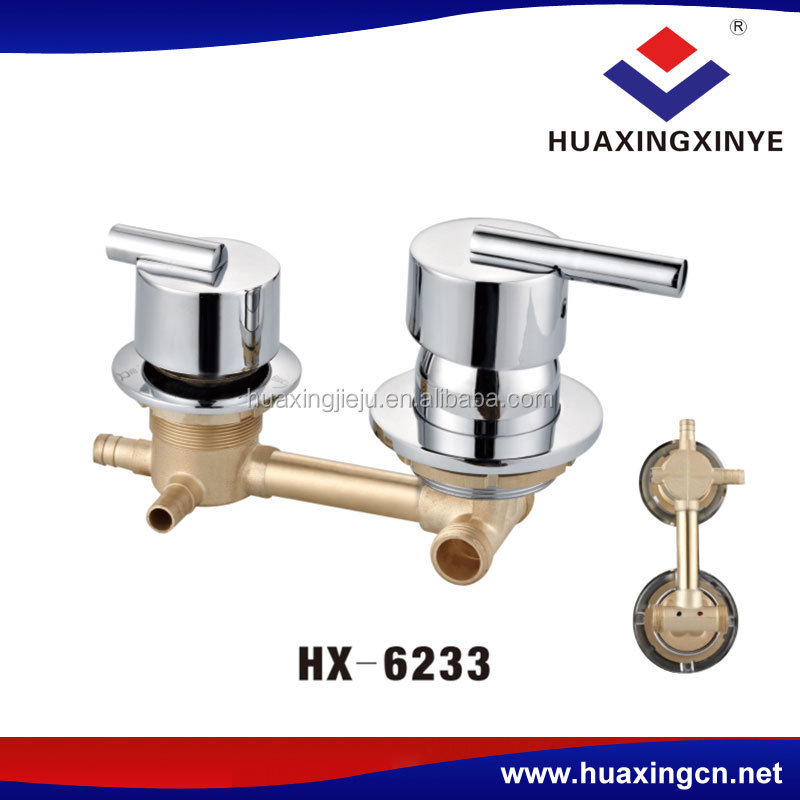 Factory brass wholesale faucets dual-handle HX-6233 shower faucet mixers tap