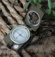 US military lensatic sighting compass with gradienter