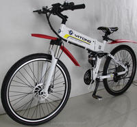 Samsung Lithium Battery 21 Speeds 250w Electric Folding Mountain Bike