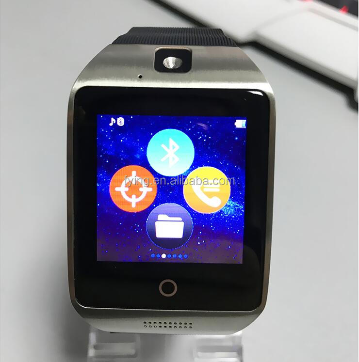 Q18 bluetooth handsfree best wrist cell phone silica gel smart watch sync sms