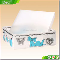 New products customized plastic box,clear plastic shoe box with drawer