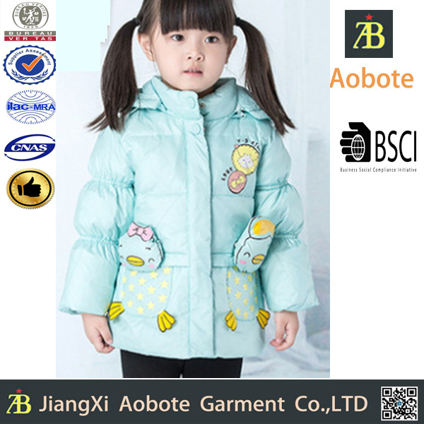 2015 New Fashion Foldable Outdoor Girl Down Jacket With Hood,Pind Winter Coat