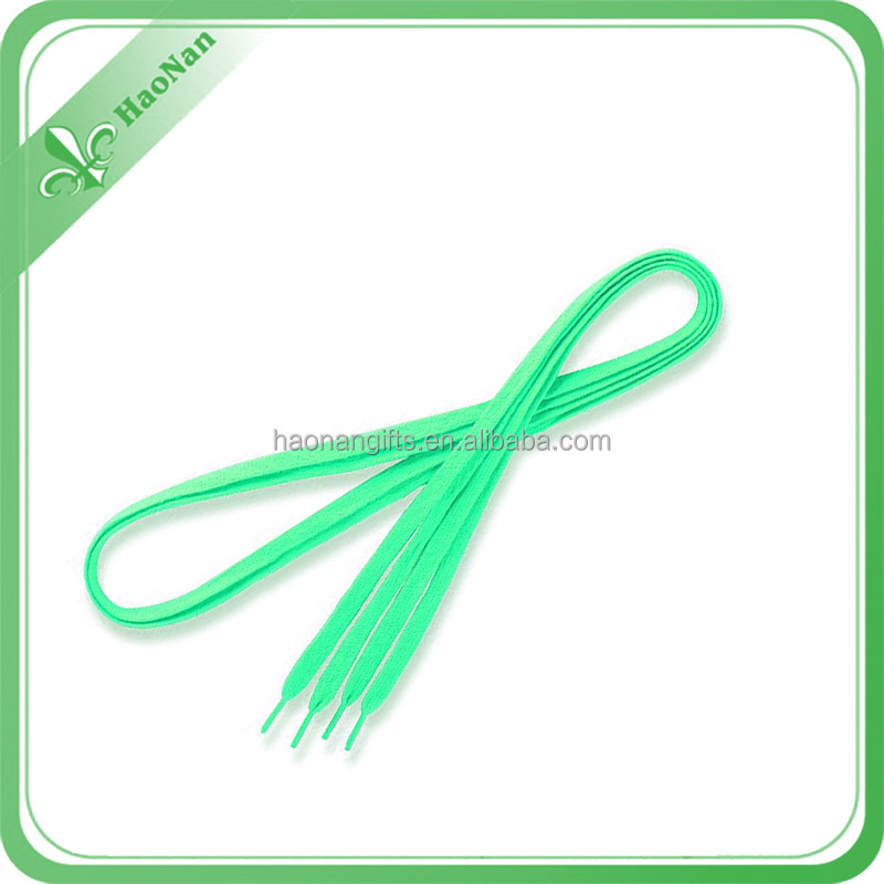In stock wholesale hot sell fashion flat shoe laces with different color