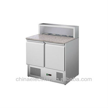 refrigerated stainless steel Saladettes fridge
