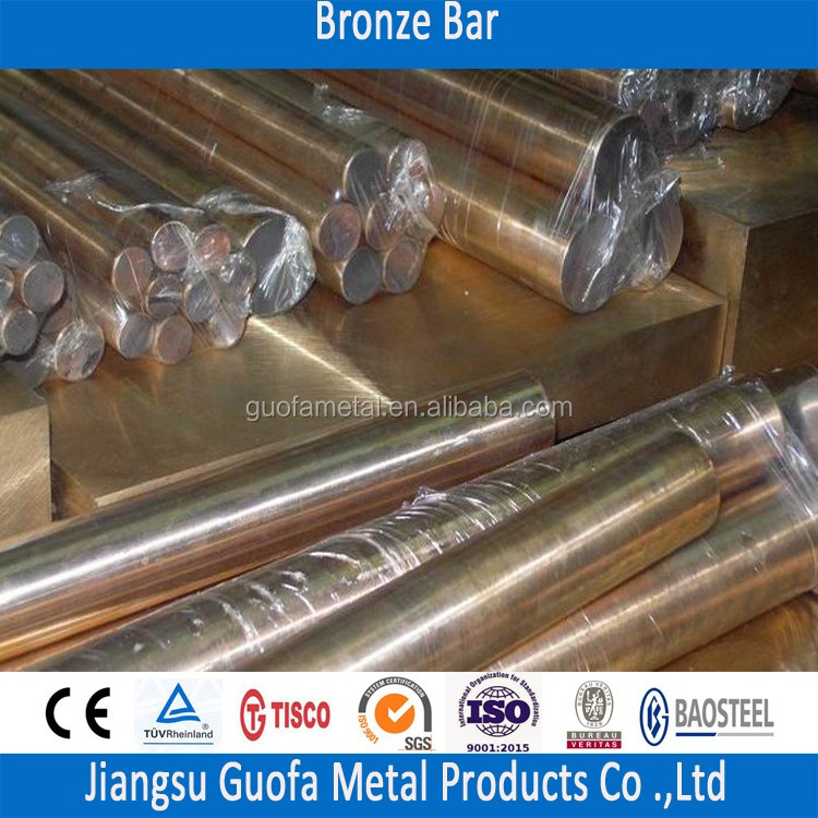99.7% Pure Bronze CuSn8 Tin Bronze Round Bar