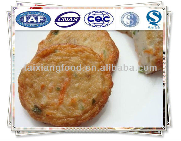 Fried vegetable surimi cake