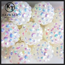 AB color 20mm acrylic shamballa beads for jewelry accessories