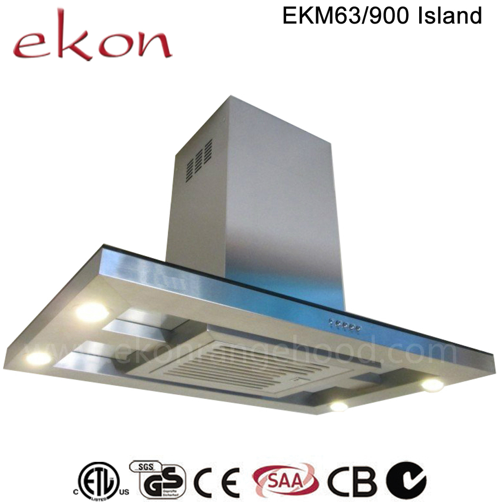 4 led lighting 90cm ceiling island cooker hood