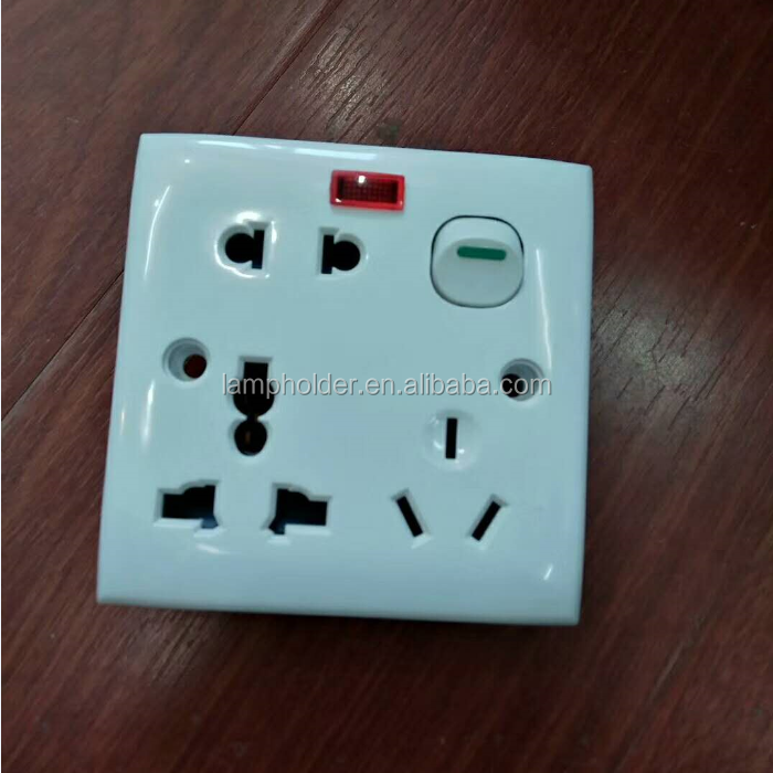 Classic Multifunctional socket  8 pins electric wall socket with the witch universal wall socket