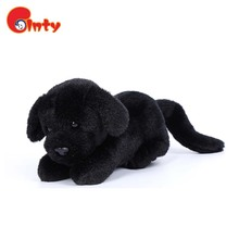 Factory hot sales black smart plush dog soft stuffed toy