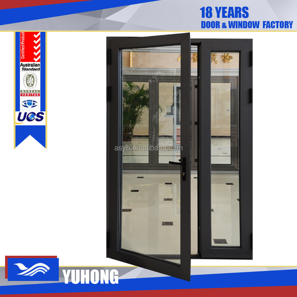 exterior metal door with glass